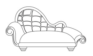 Modern Sofa Vector Shape