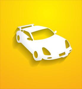 Modern Sports Car Silhouette