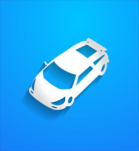 Modern Sports Car Vector Shape