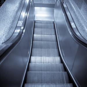 modern steps of moving business escalator