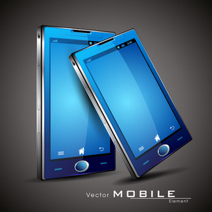 Modern Vector Touchscreen Smart-phone