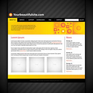 Modern Web Site Layout.