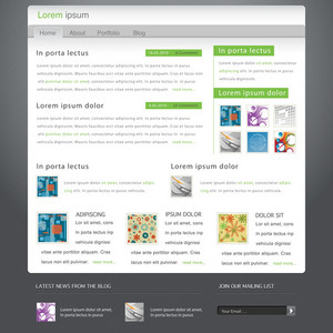 Modern Website Template Vector Illustration