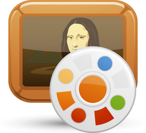 Mona Lisa With Paint Palette Lite Art Icon