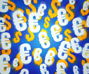 Money Blue Background