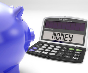 Money Calculator Shows Cash Savings And Wealth