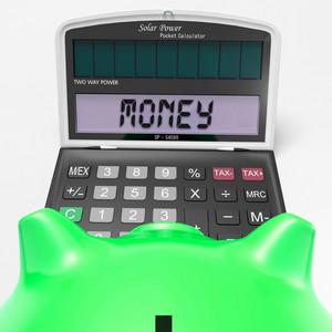 Money Calculator Shows Prosperity Revenue And Cash