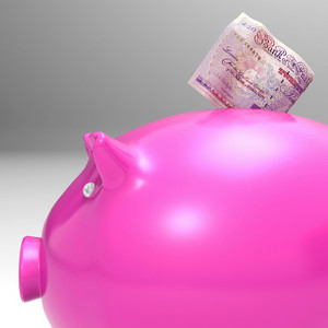 Money Entering Piggybank Shows Investments