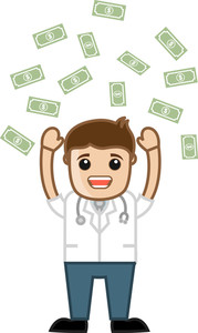 Money Rain - Doctor - Medical Cartoon Characters