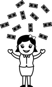 Money Rain - Vector Illustration