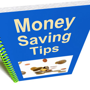 Money Saving Tips Book Shows Finance Advice