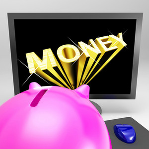 Money Screen Shows Finance Wealth And Prosperity