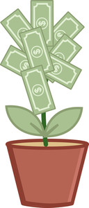 Money Tree - Wealth Concept - Business Cartoons Vectors