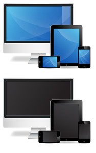 Monitor Tablets N Phone Vectors