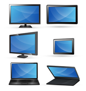 Monitors Screens Vectors