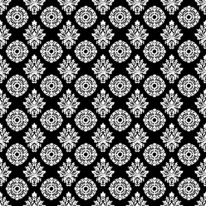 Monochrome Black And White Decorative Pattern