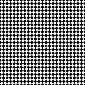 Monochrome Black And White Diagonal Checkerboard Pattern