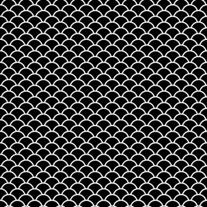 Monochrome Black And White Scales Pattern