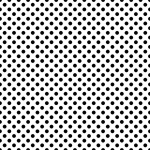 Monochrome Pattern Of Black Polka Dots On A White Background