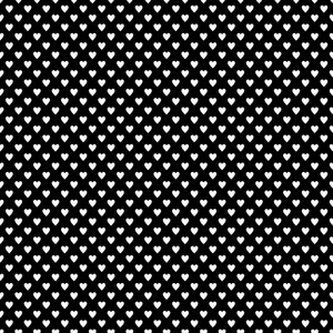 Monochrome Pattern Of White Hearts On A Black Background