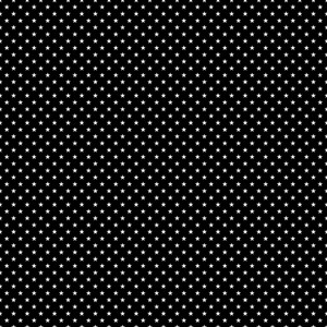 Monochrome Pattern Of White Stars On A Black Background