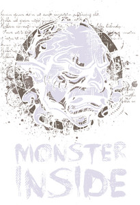 Monster Head Vector T-shirt Design