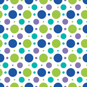 Blue, Green, And Purple Polka Dots Pattern On Monster Paper