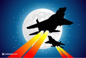 Moon And Jet Fighters