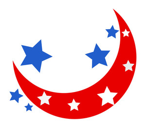 Moon And Stars Usa Theme Design Vector