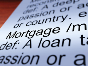 Mortgage Definition Closeup Showing Property Loan