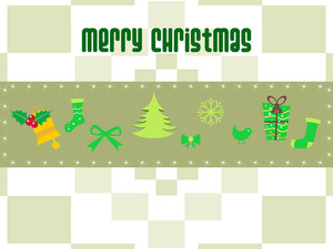 Mosaic Background With Christmas Day Icons