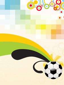 Mosaic Background With Soccer