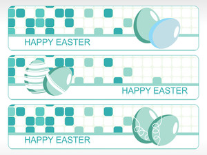 Mosaic Pattern Easter Banner