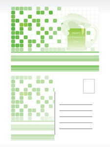 Mosaic Pattern Postcard