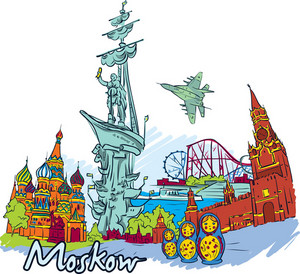 Moscow Vector Doodle
