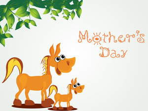 Mother Day Background With Animal
