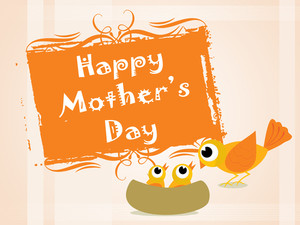 Mother Day Background With Bird