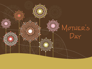 Mother Day Background With Flower