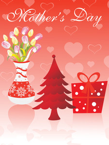 Mother Day Background With Many Object