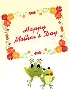 Mother Day Card Illustration