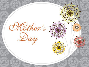 Mother Day Card With Flower Pattern