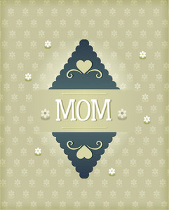 Mother's Day Vector Illustration With Label
