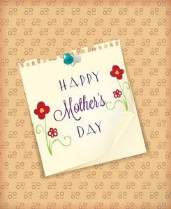 Mother's Day Vector Illustration With Paper