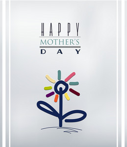 Mother's Day Vector Illustration With Spring Doodle Flower