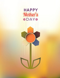 Mother's Day Vector Illustration With Spring Flowers