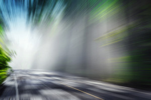 Motion Blurred Road