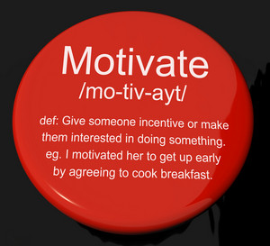 Motivate Definition Button Showing Positive Encouragement Or Inspiration