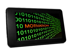 Motivation Concept On Pc Tablet