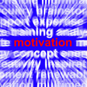 Motivation Word Showing Positive Encouragement And Determination