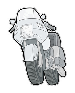Motorbike Vector Illustration